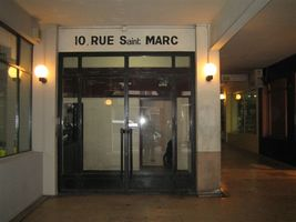 Facade du 10 rue Saint Marc 75002 PARIS